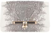 Kara Ross Lizard Flap Clutch