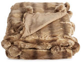 Hotel Collection Faux-Fur Pom-Pom Throw