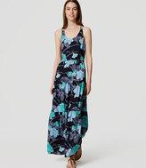 LOFT Petite Floral Tiered Maxi Dress