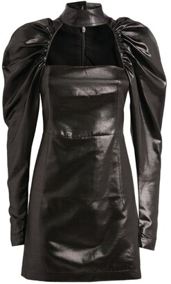 Rotate by Birger Christensen Kaya High-Shine Mini Dress