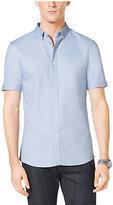 Michael Kors Slim-Fit Short-Sleeved Cotton Shirt