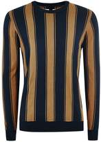 Premium Toffee And Navy Stripe Jumper