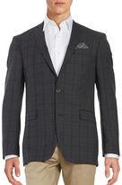 Tallia Orange Plaid Two-Button Wool Jacket
