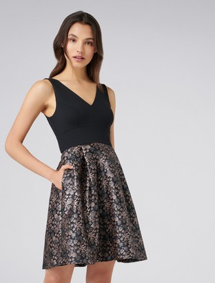 Forever New Bonnie Jacquard 2-in-1 Prom - Black - 4