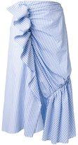 J.W.Anderson check print draped skirt
