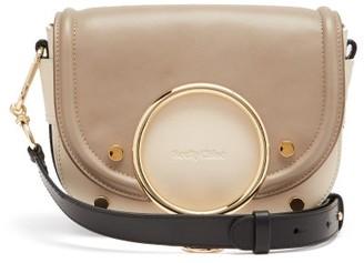 See by Chloe Mara Bi-colour Leather Small Cross-body Bag - Grey Multi