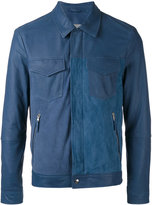 Eleventy panel zipped jacket - men - Cotton/Spandex/Elastane/Suede/Polyester - 48
