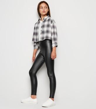 New Look Girls Coated Leather-Look Leggings