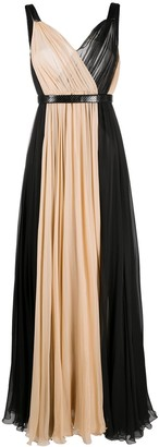 Dolce & Gabbana Two-Tone Long Dress