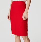 LOFT Seamed Scuba Pencil Skirt