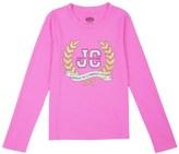 Juicy Couture Girls Logo Glam Laurels Long Sleeved Tee