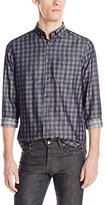 Kenneth Cole Reaction Men's Long-Sleeve Indigo-Check Shirt