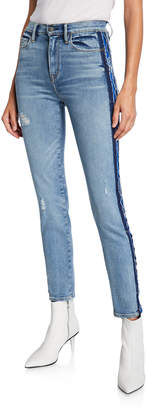Hudson Barbara High-Rise Skinny Jeans with Side Seam Detail