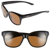 Smith Optics Women's 'Feature' 54Mm Polarized Sunglasses - Black/ Polarized Brown