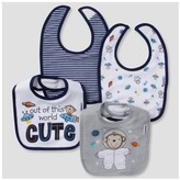 Gerber Baby Boys' 4pk Terry Bib Set Monkey ;