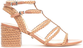 Schutz Braided Leather Sandals