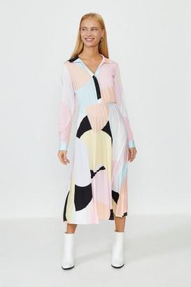 Coast Animal Print Slinky Jersey Shirt Dress