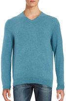 Black Brown 1826 Cashmere V-Neck Sweater