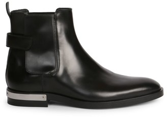 Balmain Grip-Tape Leather Boots