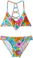 Hobie Girls' Fleur to Love Flounce Bralette Bikini Set (714) - 8152013