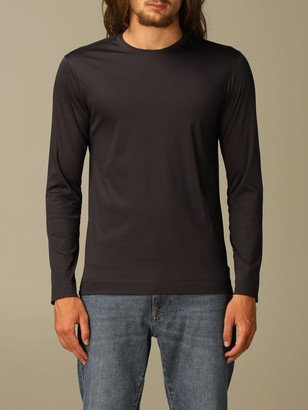 Ermenegildo Zegna T-shirt In Pure Cotton With Long Sleeves