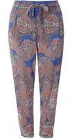 Dorothy Perkins Womens DP Curve Plus Size Multi Coloured Paisley Print Tie Waist Joggers- Black