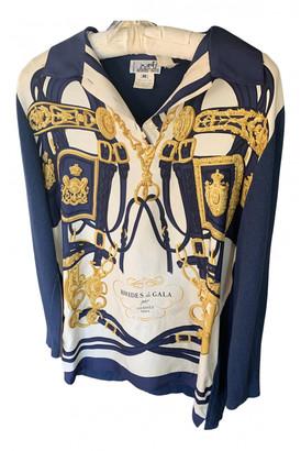 Hermes Navy Silk Knitwear