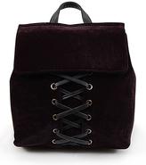 Black Lace-Up Backpack