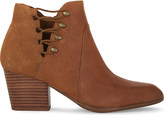 Aldo Montasico leather & suede heeled ankle boots