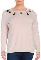 Context Plus Embellished Crewneck Sweater