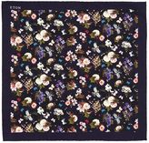 Eton Flower Printed Silk Pocket Square