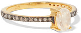 Chan Luu Gold-plated, Moonstone And Diamond Ring - 5