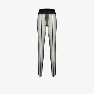Wolford black Control Top back seam 10 tights