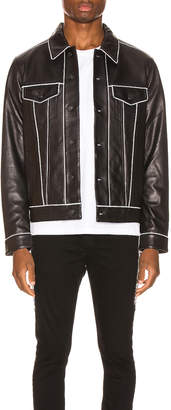 Keiser Clark Leather Pajama Trucker Jacket in Black | FWRD