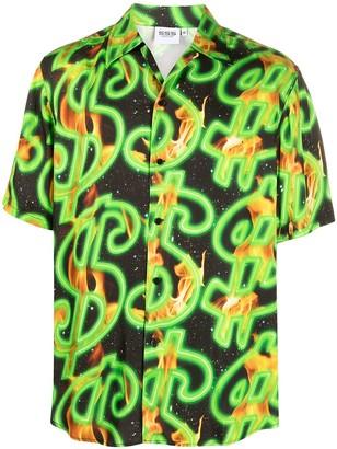 SSS World Corp Printed Button-Up Shirt