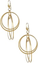 Rivka Friedman 18K Gold Clad Satin Multi Ring Earrings