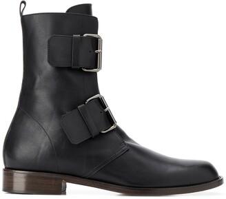 Michel Vivien Emerance 30mm buckled ankle boots