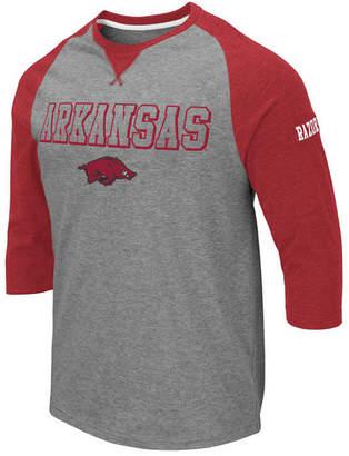 Colosseum Men Arkansas Razorbacks Team Patch Three-Quarter Sleeve Raglan T-Shirt