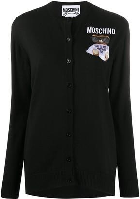 Moschino Teddy Bear embroidery cardigan