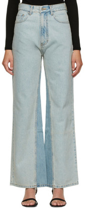 DRAE Blue Panelled Jeans