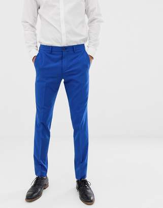 Jack and Jones stretch slim suit trousers in electric blue