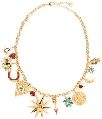 Swarovski Lucky Goddess Charms Necklace