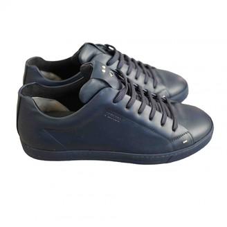 Fendi Blue Leather Trainers
