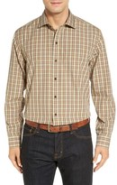 Cutter & Buck Men's Big & Tall 'Crown' Regular Fit Plaid Sport Shirt