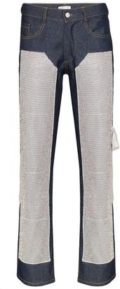Collina Strada Janet rhinestone-embellished jeans