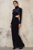 Velvet High Neck Long Dress