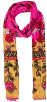 Anna Sui Floral Print Scarf