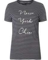 Dorothy Perkins Womens Ivory Striped Motif T-Shirt