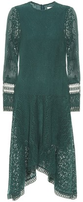See by Chloe Asymmetric lace midi dress