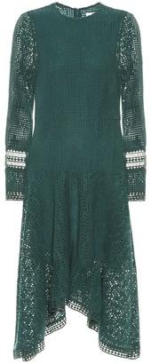 See By Chloã© Asymmetric lace midi dress